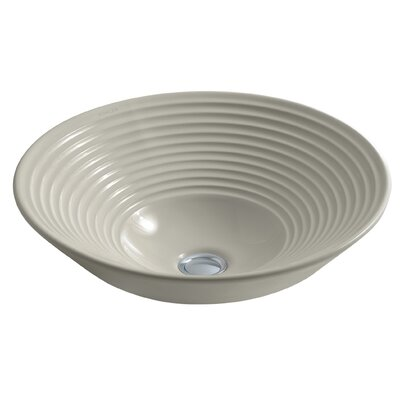 Artist Editions Turnings Above-Counter Circular Vessel Bathroom Sink Sink Finish: Sandbar