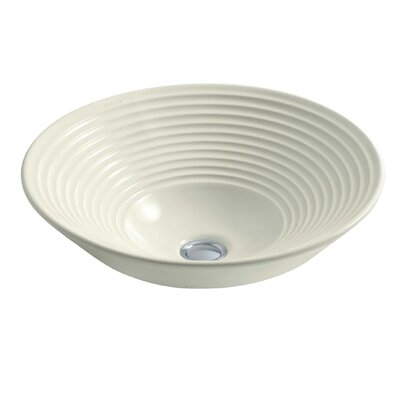 Turnings Ceramic Circular Vessel Bathroom Sink Sink Finish: Biscuit
