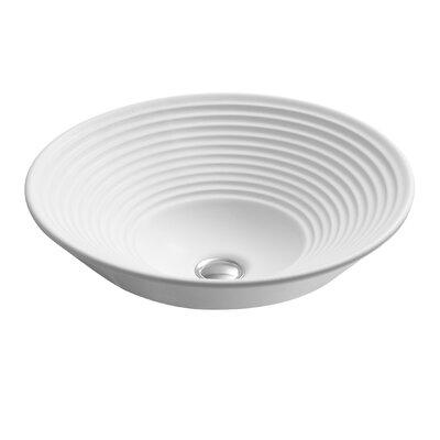 Turnings Ceramic Circular Vessel Bathroom Sink Sink Finish: White