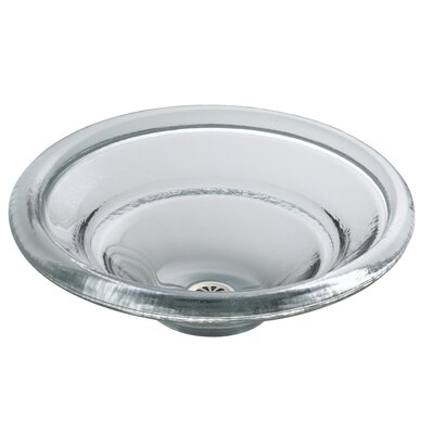 Spun Glass Temp Glass Circular Vessel Bathroom Sink Finish: Ice