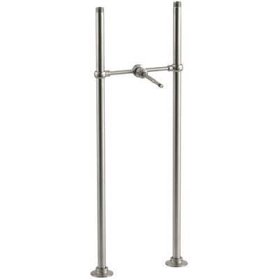 Antique Riser Tubes and Cross Connection, Long Finish: Vibrant Brushed Nickel