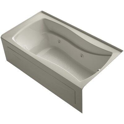Mariposa Alcove 66 x 36 Whirpool Bathtub Finish: Sandbar