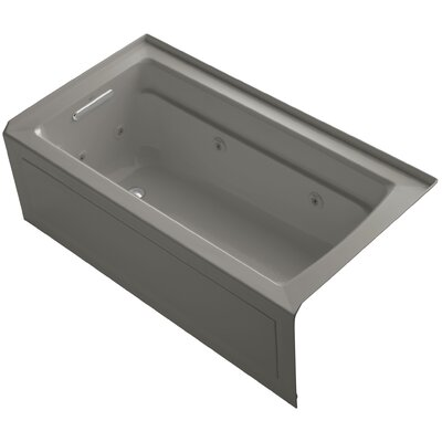 Archer Alcove 60 x 32 Whirpool Bathtub Finish: Cashmere