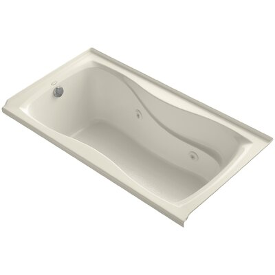 Hourglass Alcove 60 x 32 Whirpool Bathtub Finish: Almond