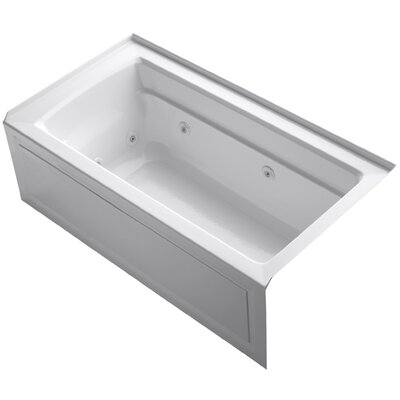 Archer Alcove 60 x 32 Whirpool Bathtub Finish: White