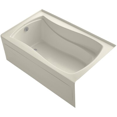 Mariposa Alcove 60 x 36 Soaking Bathtub Finish: Almond