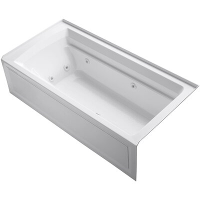 Archer Alcove 72 x 36 Whirpool Bathtub Finish: White