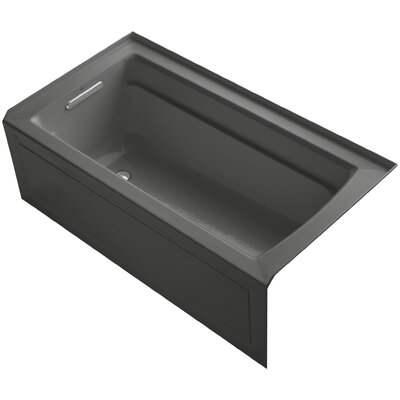 Archer Alcove Bubblemassage 60 x 32 Whirpool Bathtub Sink Finish: Thunder Grey
