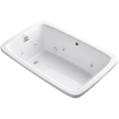 Bancroft 66 x 42 Whirlpool Bathtub Finish: White
