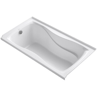 Hourglass Alcove 60 x 32 Soaking Bathtub Finish: White