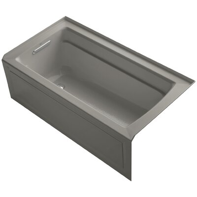 Archer 60 x 32 Soaking Bathtub Finish: Cashmere, Drain Location: Left