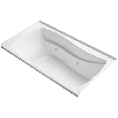 Mariposa Alcove 66 x 36 Whirpool Bathtub Finish: White