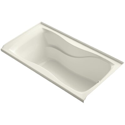 Hourglass Alcove 60 x 32 Soaking Bathtub Finish: Biscuit