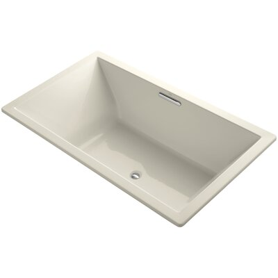 Underscore Vibracoustic 72 x 42 Soaking Bathtub Finish: Almond