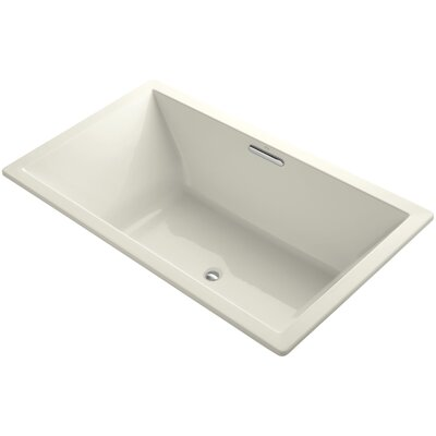 Underscore Vibracoustic 72 x 42 Soaking Bathtub Finish: Biscuit