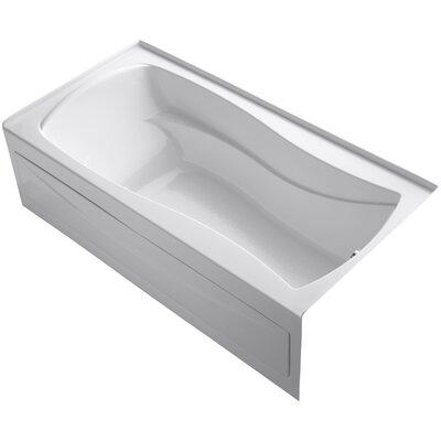 Mariposa Alcove Bubblemassage 72 x 36 Soaking Bathtub Finish: White
