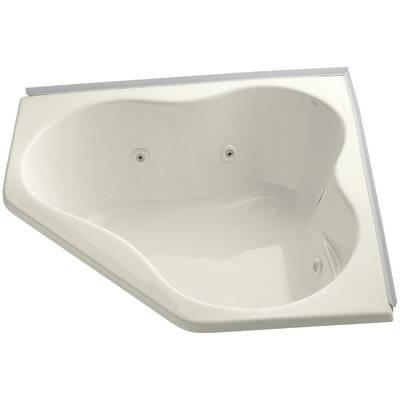 Alcove 54 x 54 Whirpool Bathtub Finish: Biscuit