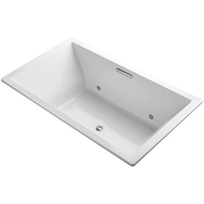 Underscore Vibracoustic 72 x 42 Whirpool Bathtub Finish: White