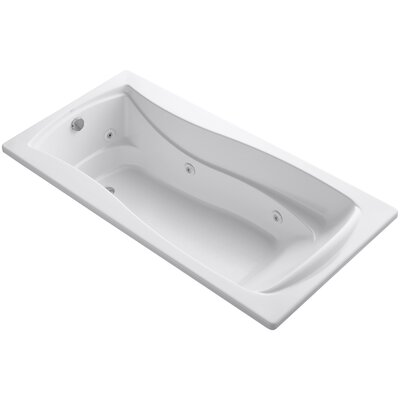 Mariposa 72 x 36 Whirpool Bathtub Finish: White