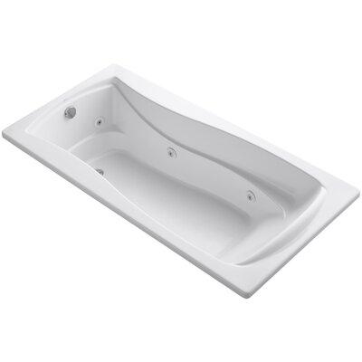 Mariposa 72 x 36 Whirlpool Bathtub Finish: White