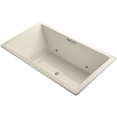 Underscore Vibracoustic 72 x 42 Whirpool Bathtub Finish: Almond