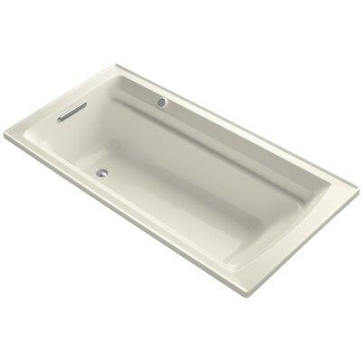 Archer Bubblemassage 72 x 36 Soaking Bathtub Sink Finish: Biscuit