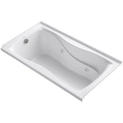 Hourglass Alcove 60 x 32 Whirpool Bathtub Finish: White