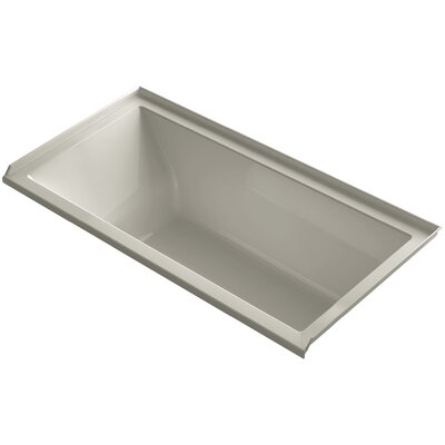 Underscore 60 x 30 Bathtub Finish: Sandbar, Drain Location: Right