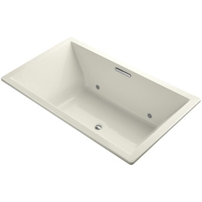 Underscore Vibracoustic 72 x 42 Whirpool Bathtub Finish: Biscuit