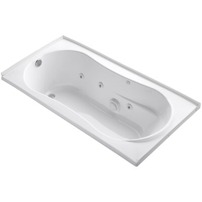 Alcove 72 x 36 Whirpool Bathtub Finish: White