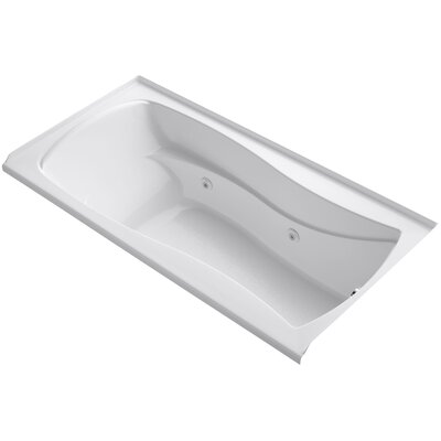 Mariposa Alcove 72 x 36 Whirpool Bathtub Finish: White