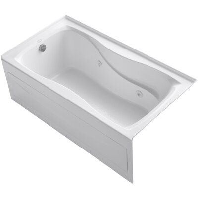 Hourglass Alcove 60 x 32 Whirpool Bathtub Finish: White