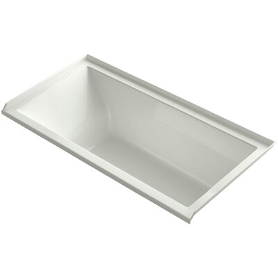 Underscore 60 x 30 Bathtub Finish: Dune, Drain Location: Right