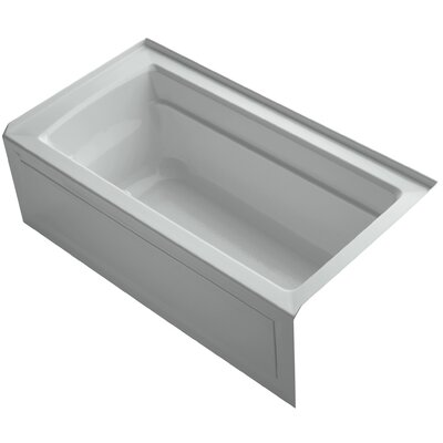 Archer Alcove Bubblemassage 60 x 32 Soaking Bathtub Sink Finish: Ice Grey