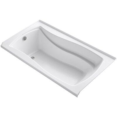 Mariposa Alcove 66 x 36 Soaking Bathtub Finish: White