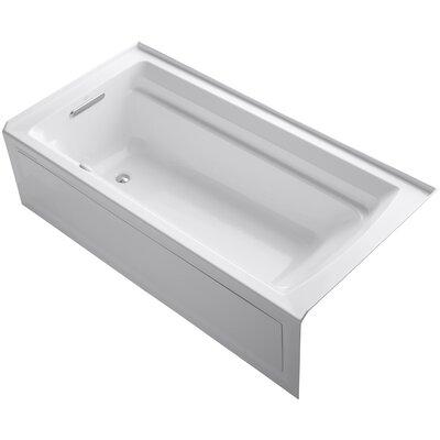 Archer Alcove Bubblemassage 72 x 36 Soaking Bathtub Sink Finish: White