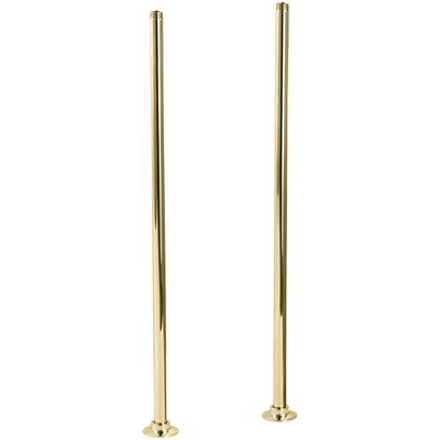 Antique Riser Tubes Only, Long Finish: Vibrant Polished Brass