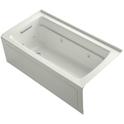 Archer Alcove 60 x 32 Whirpool Bathtub Finish: Dune