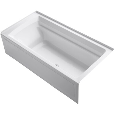 Archer Alcove Bubblemassage 72 x 36 Soaking Bathtub Sink Finish: White
