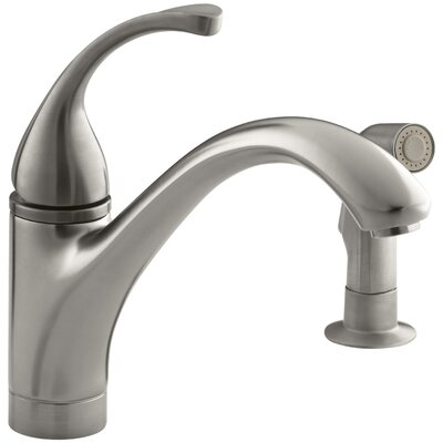 Fort� 2-Hole Kitchen Sink Faucet with 9-1/16 Spout, Matching Finish Sidespray Finish: Vibrant Stainless