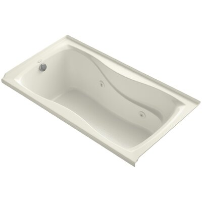 Hourglass Alcove 60 x 32 Whirpool Bathtub Finish: Biscuit