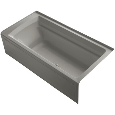 Archer Alcove Bubblemassage 72 x 36 Soaking Bathtub Sink Finish: Cashmere