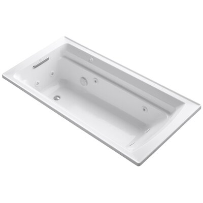 Archer 72 x 36 Whirpool Bathtub Finish: White