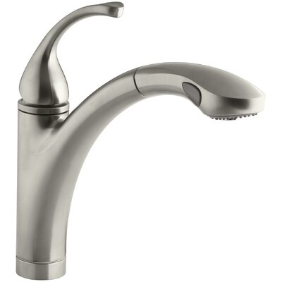 Fort� Single-Hole or 3-Hole Kitchen Sink Faucet with 10-1/8 Pullout Spray Spout Finish: Vibrant Brushed Nickel