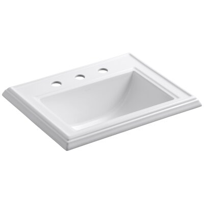 Memoirs Classic Self Rimming Bathroom Sink 8 Finish: White, Faucet Hole Style: Single