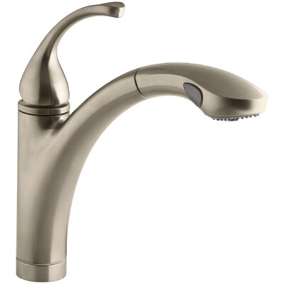 Fort� Single-Hole or 3-Hole Kitchen Sink Faucet with 10-1/8 Pullout Spray Spout Finish: Vibrant Brushed Bronze