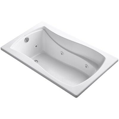 Mariposa 60 x 36 Whirlpool Bathtub Finish: White