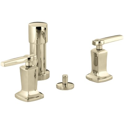 Margaux Vertical Spray Bidet Faucet with Lever Handles Finish: Vibrant French Gold