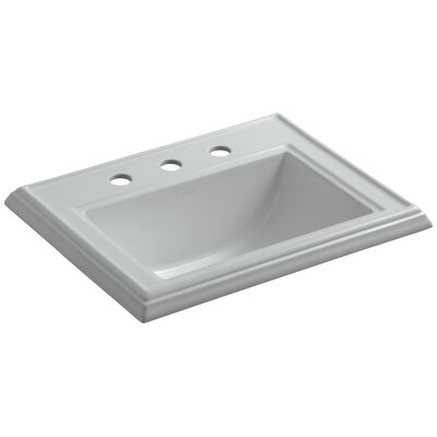 Memoirs Classic Self Rimming Bathroom Sink 8 Finish: Ice Grey, Faucet Hole Style: Single
