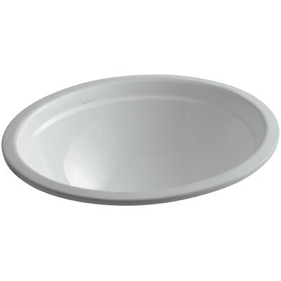 Bancroft� Oval Undermount Bathroom Sink with Overflow Sink Finish: Ice Grey